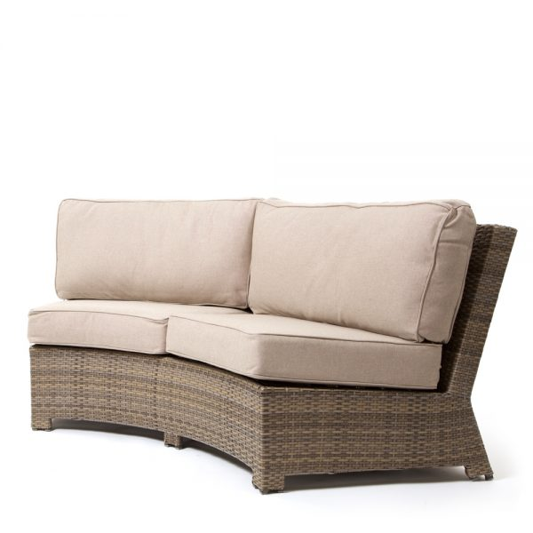 Cabo contour sofa with a Willow weave and Blend Sand cushions