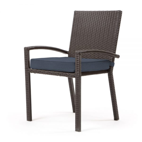 Cabo dining chair - Jacobean weave with Spectrum Indigo cushion