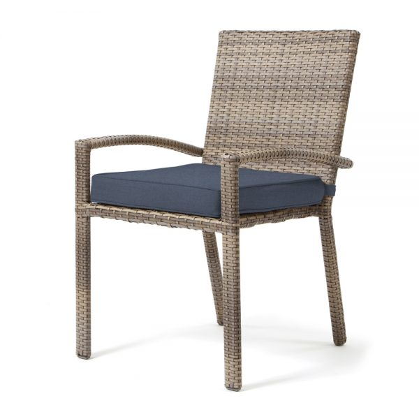 Cabo dining chair - Willow weave with Spectrum Indigo cushion