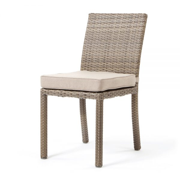 Cabo dining side chair - Willow weave with Blend Sand cushion