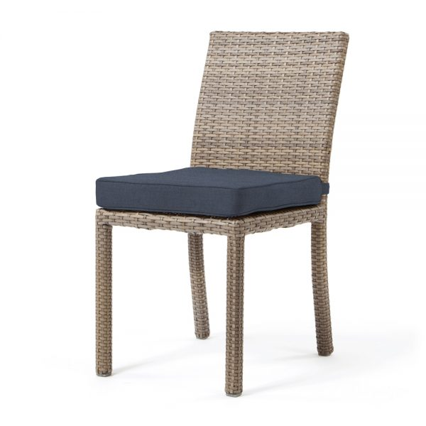 Cabo dining side chair - Willow weave with Spectrum Indigo cushion