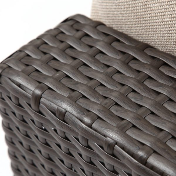NCI Cabo wicker ottoman with a Jacobean weave