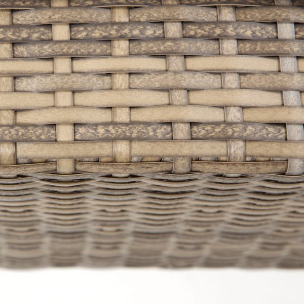 Cabo wicker ottoman with a Willow weave