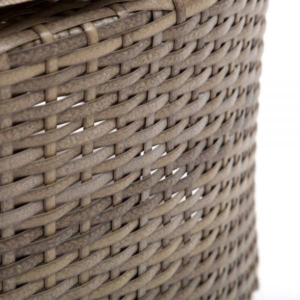 NCI Cabo wicker ottoman with a Willow weave