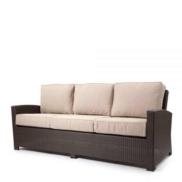 Cabo sofa with a Jacobean weave and Blend Sand cushions
