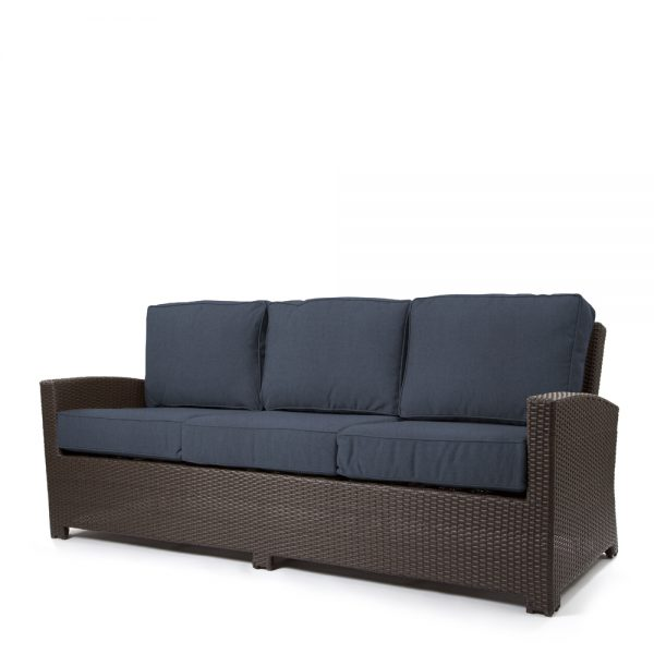 Cabo sofa with a Jacobean weave and Spectrum Indigo cushions
