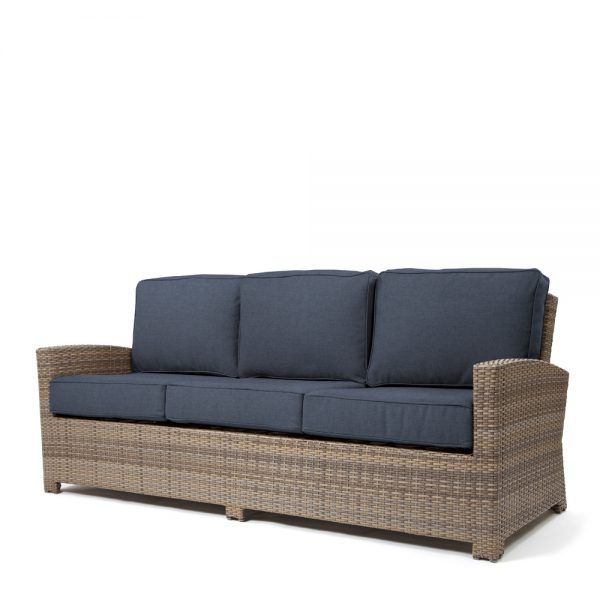 Cabo sofa with a Willow weave and Spectrum Indigo cushions