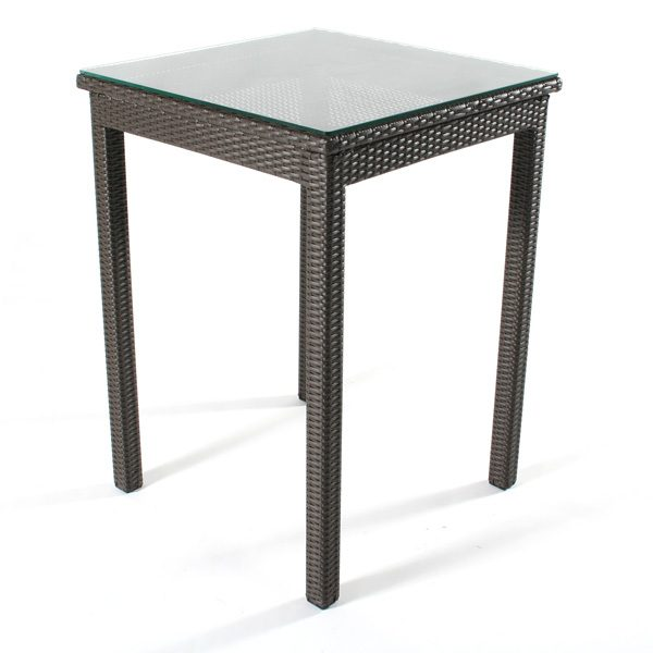 """Cabo wicker 30"""" bar table view of top"""