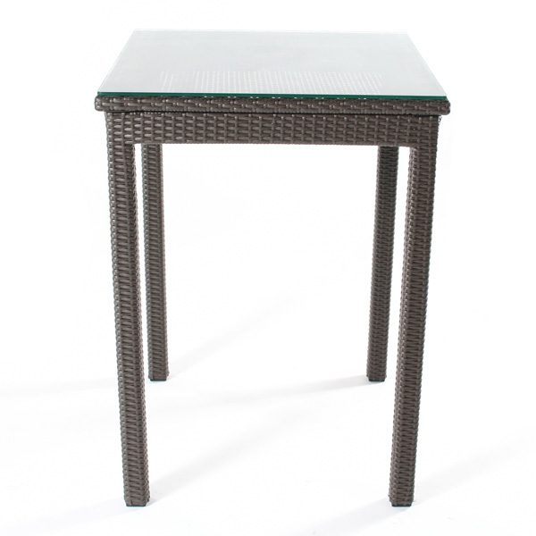 """Cabo wicker 30"""" bar table front view"""