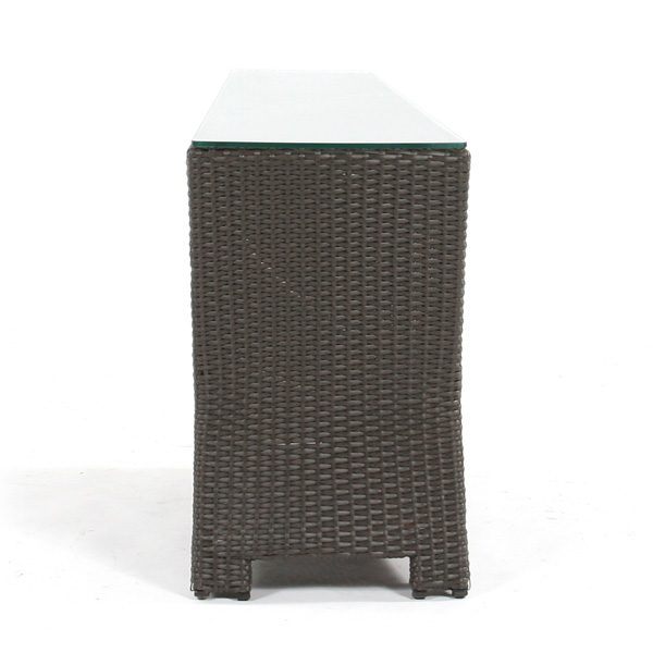 Cabo outdoor wicker wedge table back view