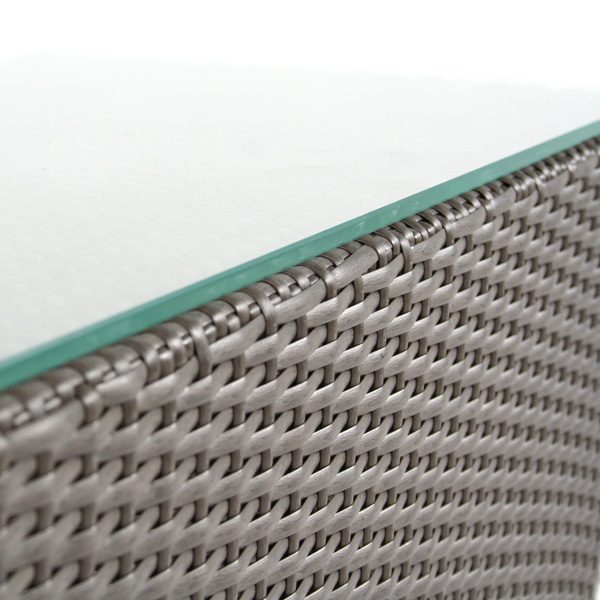 North Cape International Cabo Jacobean frame wicker detail
