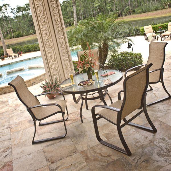 Woodard aluminum sling patio furniture
