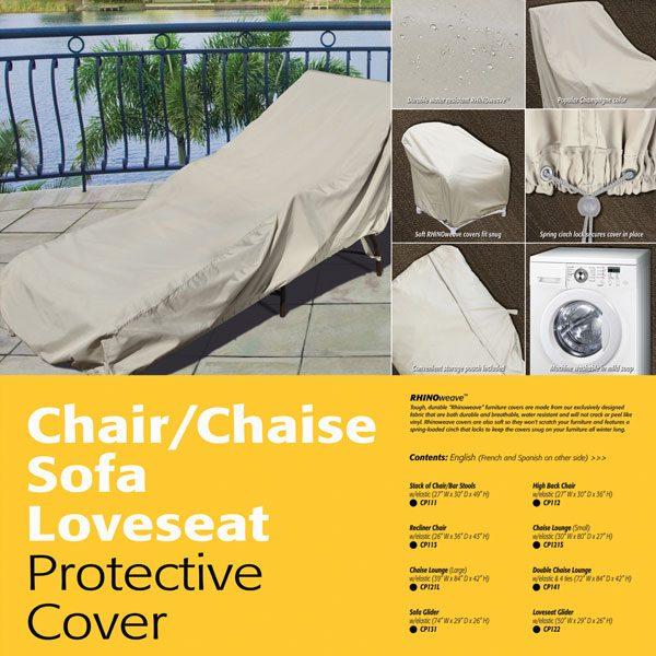 Treasure Garden double chaise lounge cover