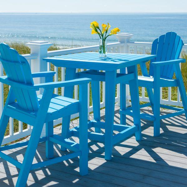 Classic Adirondack balcony height chairs