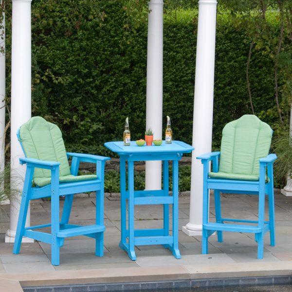 Seaside Casual classic Adirondack bar chairs
