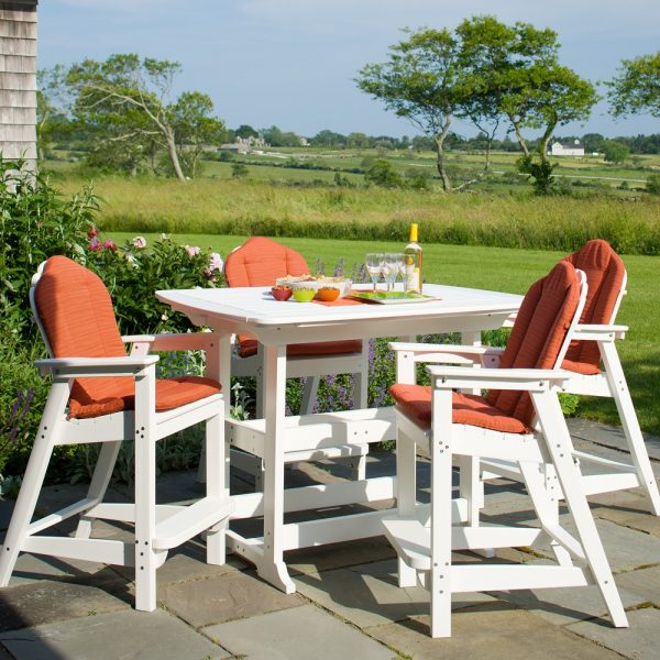 Seaside Casual bar height Adirondack chairs with optional cushions