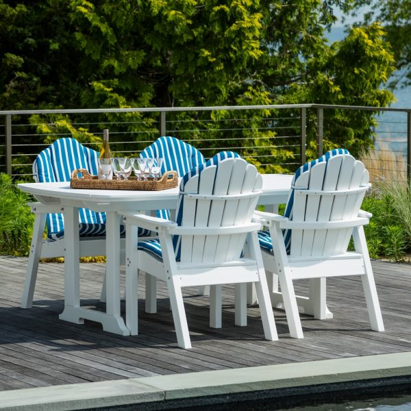 Seaside Casual classic Adirondack dining set with optional cushions