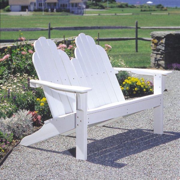 Adirondack outdoor love seat
