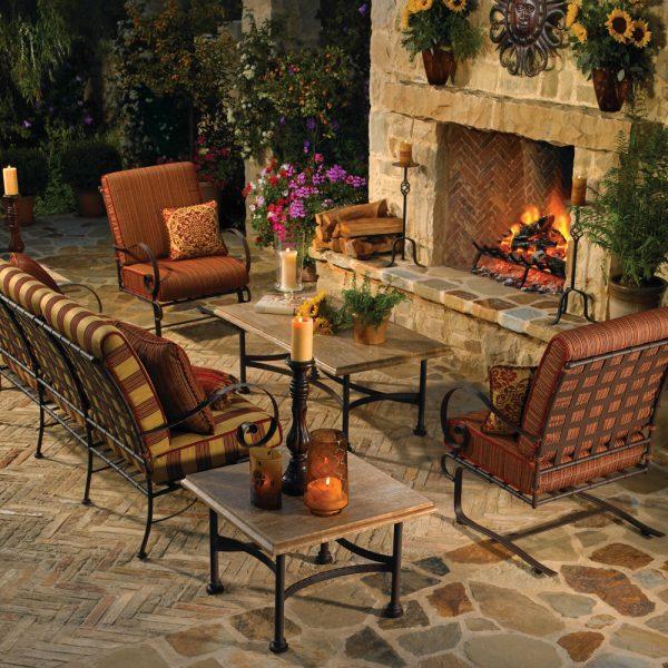 OW Lee wrought iron patio furniture
