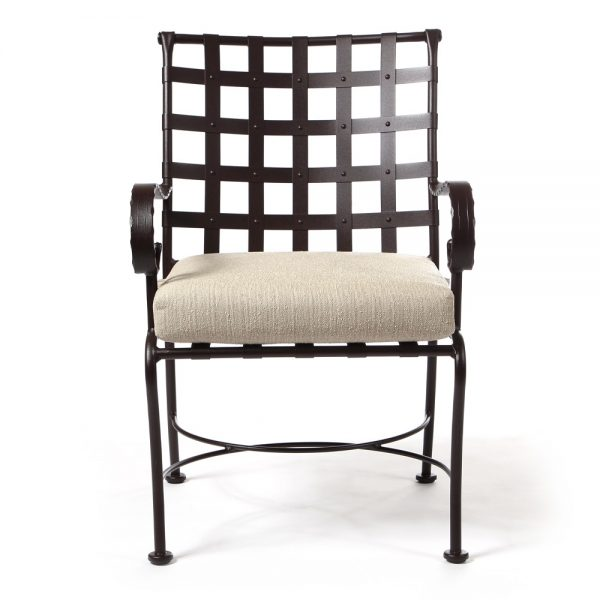 OW Lee Classico wrought iron dining chair front view