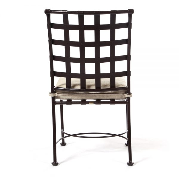 Classico wrought iron dining chair back view