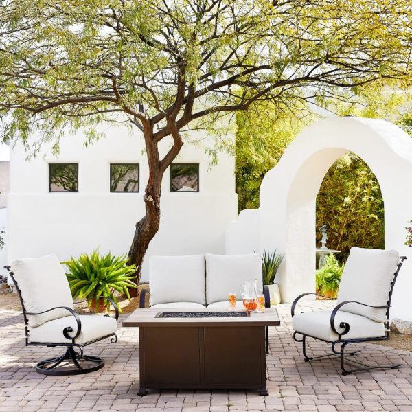 OW Lee Classico wrought iron patio furniture