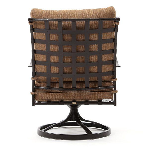 Classico patio swivel rocker club chair back view