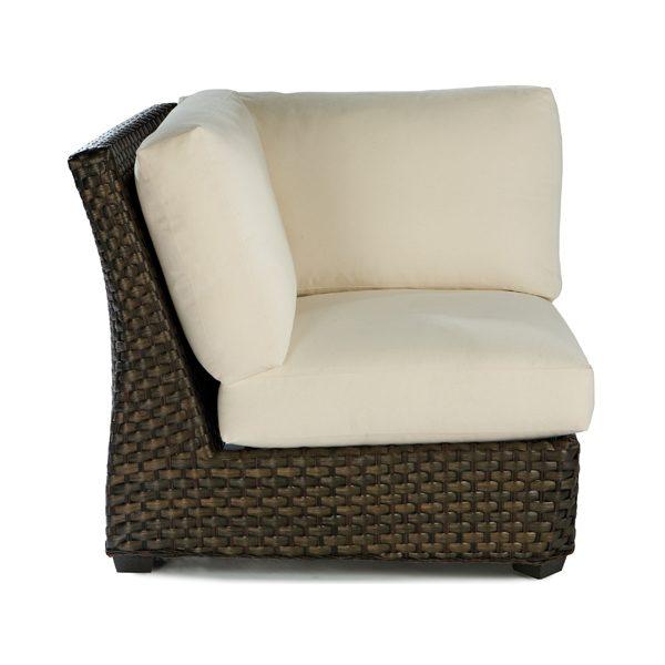 Leeward wicker square corner chair side view