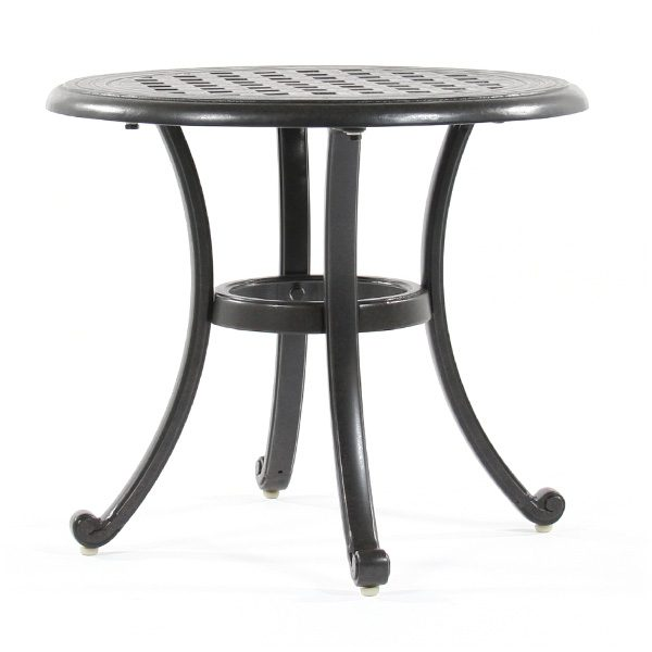 "Coronado 21"" round cast outdoor end table"