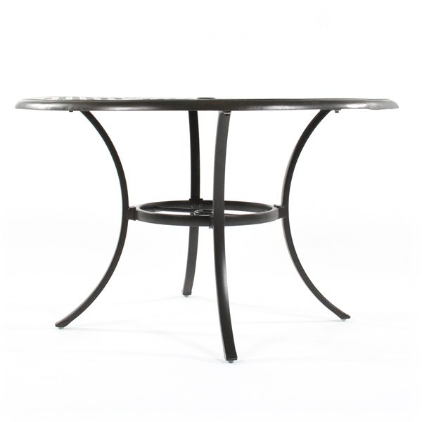 "Hanamint Coronado 48"" round dining table side view"