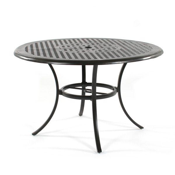 """Hanamint Coronado 48"""" round cast aluminum dining table"""