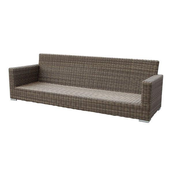 Coronado wicker outdoor sofa without cushions