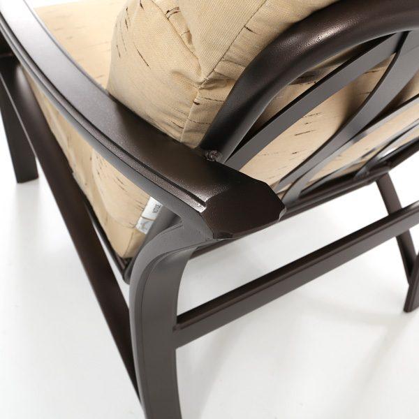 Tropitone Corsica aluminum frame with a Espresso powder coat finish