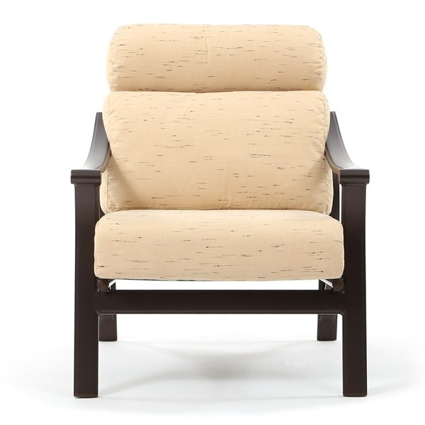 Tropitone Corsica aluminum lounge chair front view