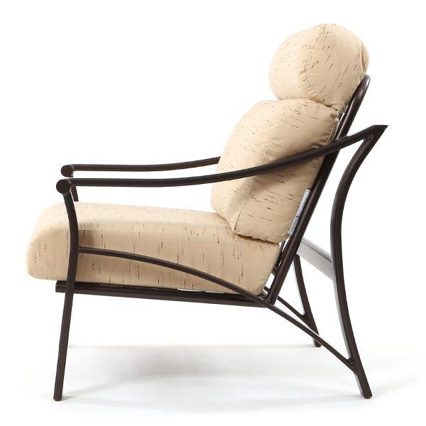 Corsica patio club chair side view