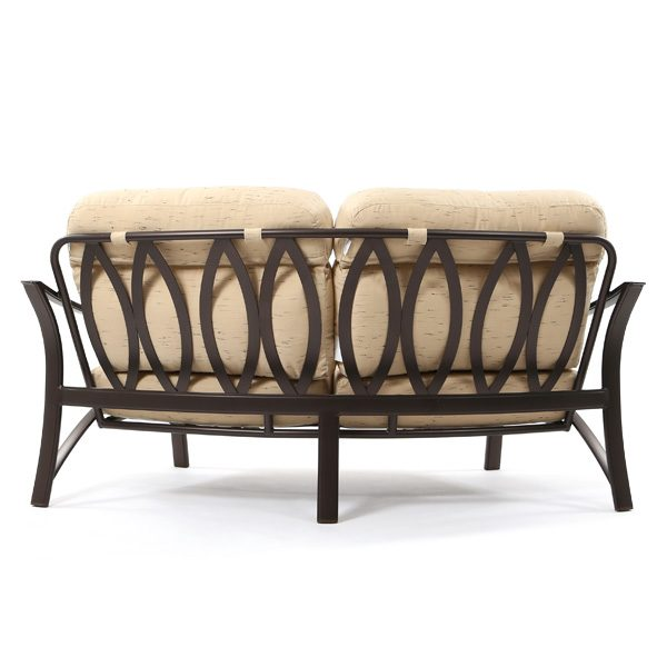Corsica outdoor curved love seat back view
