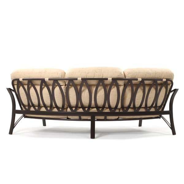 Tropitone Corsica outdoor curved sofa back view