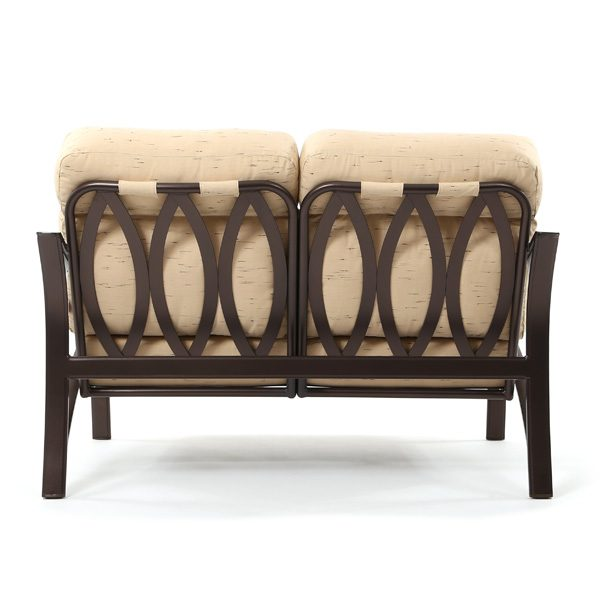 Tropitone Corsica outdoor loveseat back view