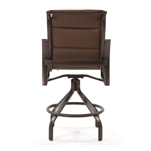 Tropitone Corsica padded sling counter stool back view