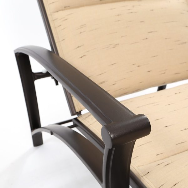 Tropitone Corsica aluminum chaise lounge with an Espresso powder coat finish