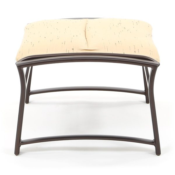 Corsica padded sling outdoor ottoman side view