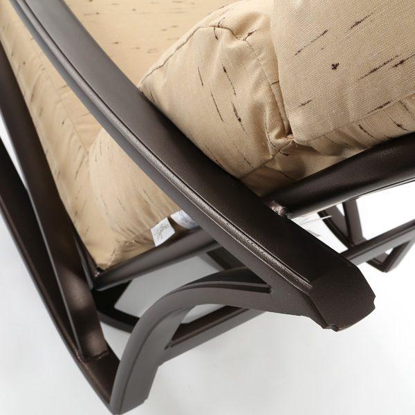 Tropitone Corsica swivel club chair aluminum frame with a Espresso powder coat finish