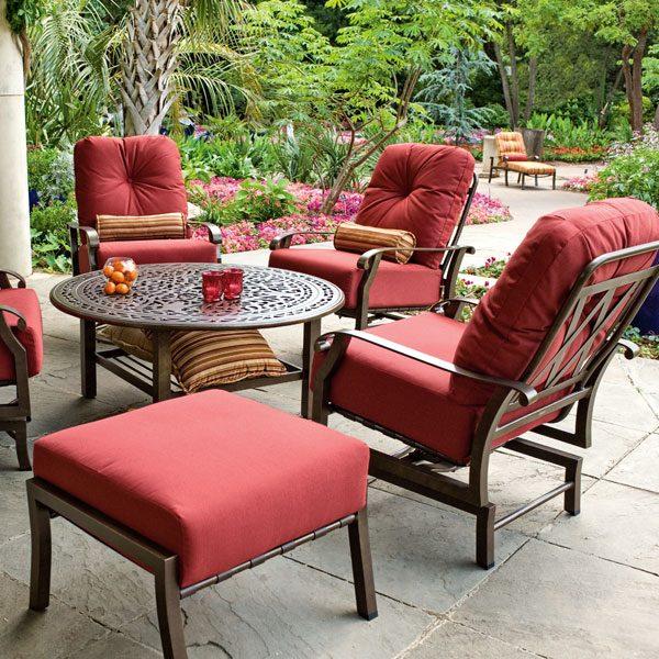 Woodard Cortland cushion deep seating group