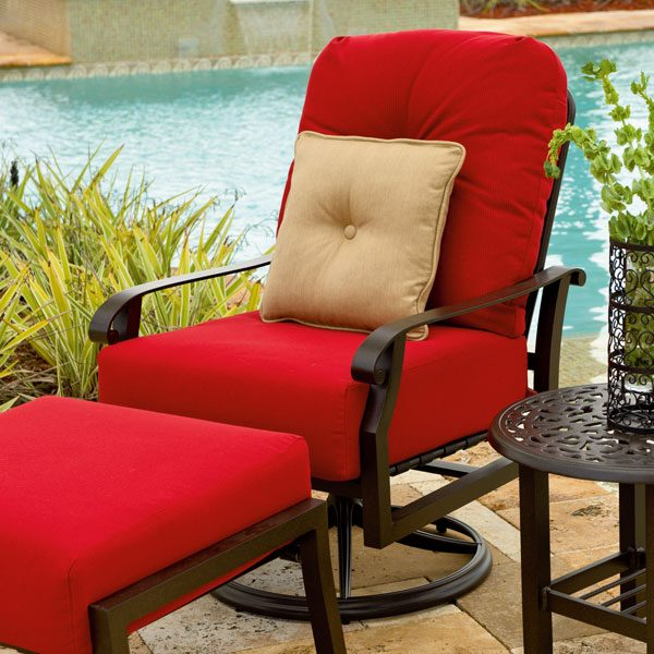 Woodard Cortland cushion outdoor patio furniture collection