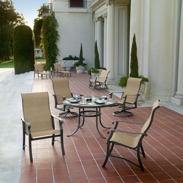 Woodard Cortland sling outdoor furniture