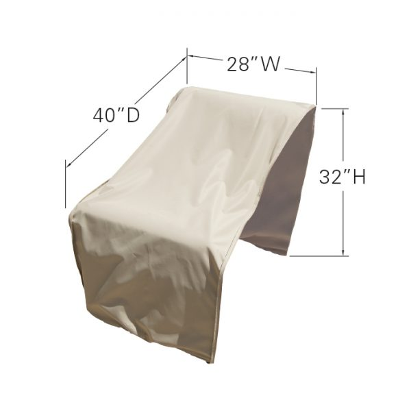 CP302 Sectional or modular armless (middle) cover dimensions
