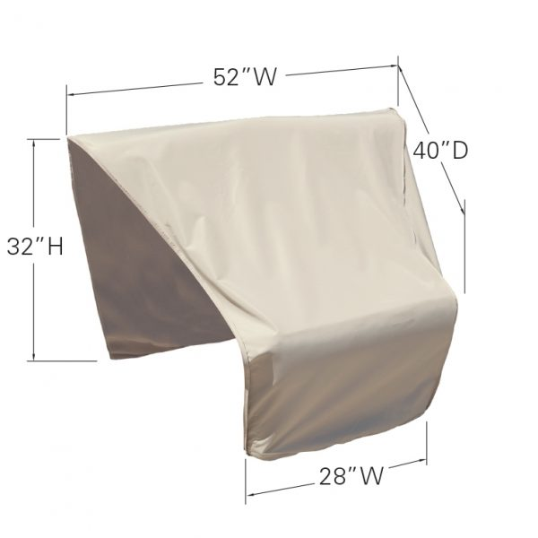 CP406-L Sectional or modular wedge end (right facing) cover dimensions