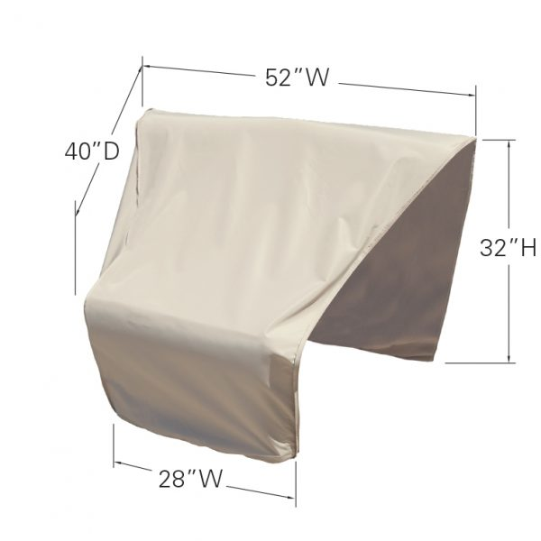 CP406-R Sectional or modular wedge end (left facing) cover dimensions