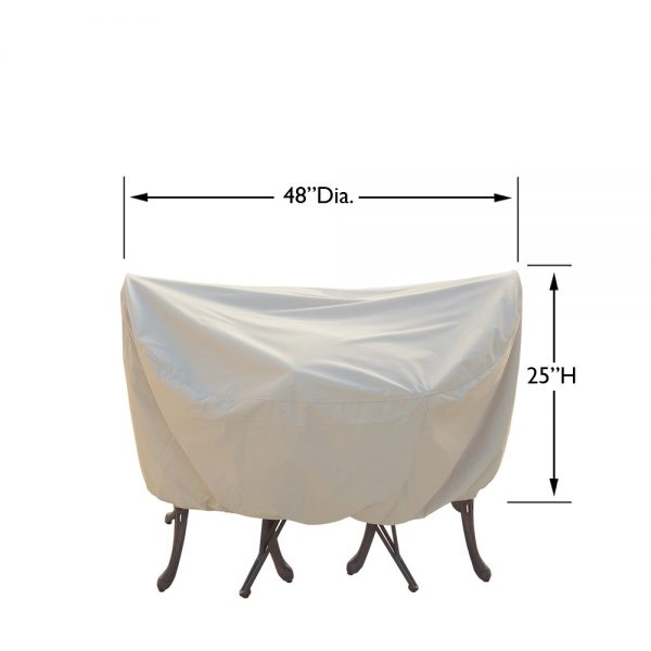 """CP531 36"""" bistro or cafe table and chair cover dimensions"""