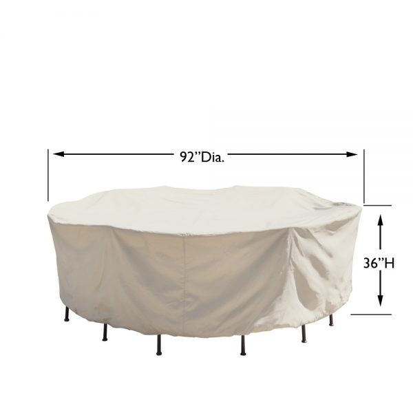 """CP571 54"""" round table & chairs cover dimensions"""